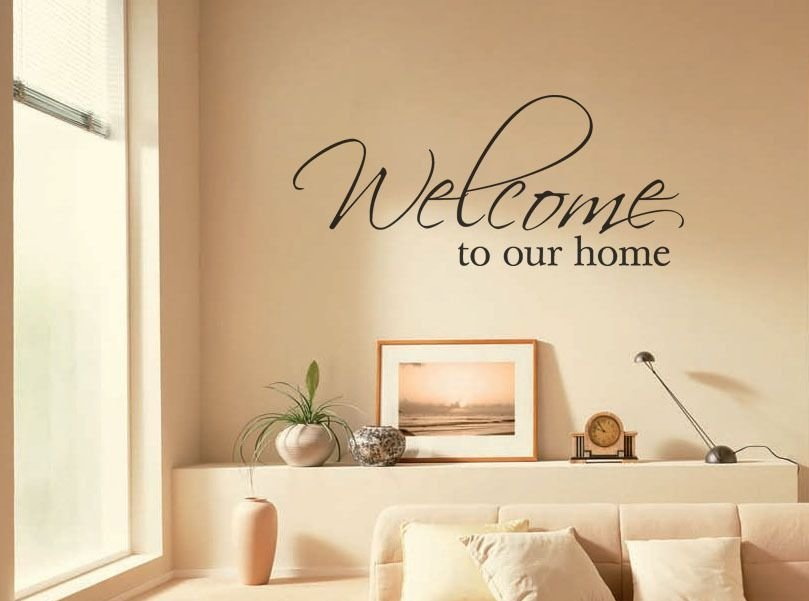 Best Wall Art Sticker Welcome To Our Home Wall Art Quote With Pictures